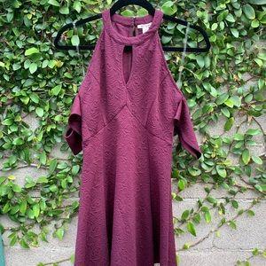 Francesca's | XS Keyhole Drop-Sleeve Dress